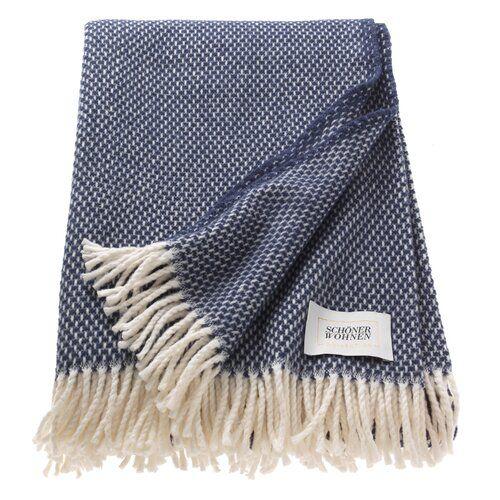 Zen Blanket Schoner Wohnen Kollektion Colour Midnight Blue Flannel Throw Velvet Bedspread Herringbone Blanket