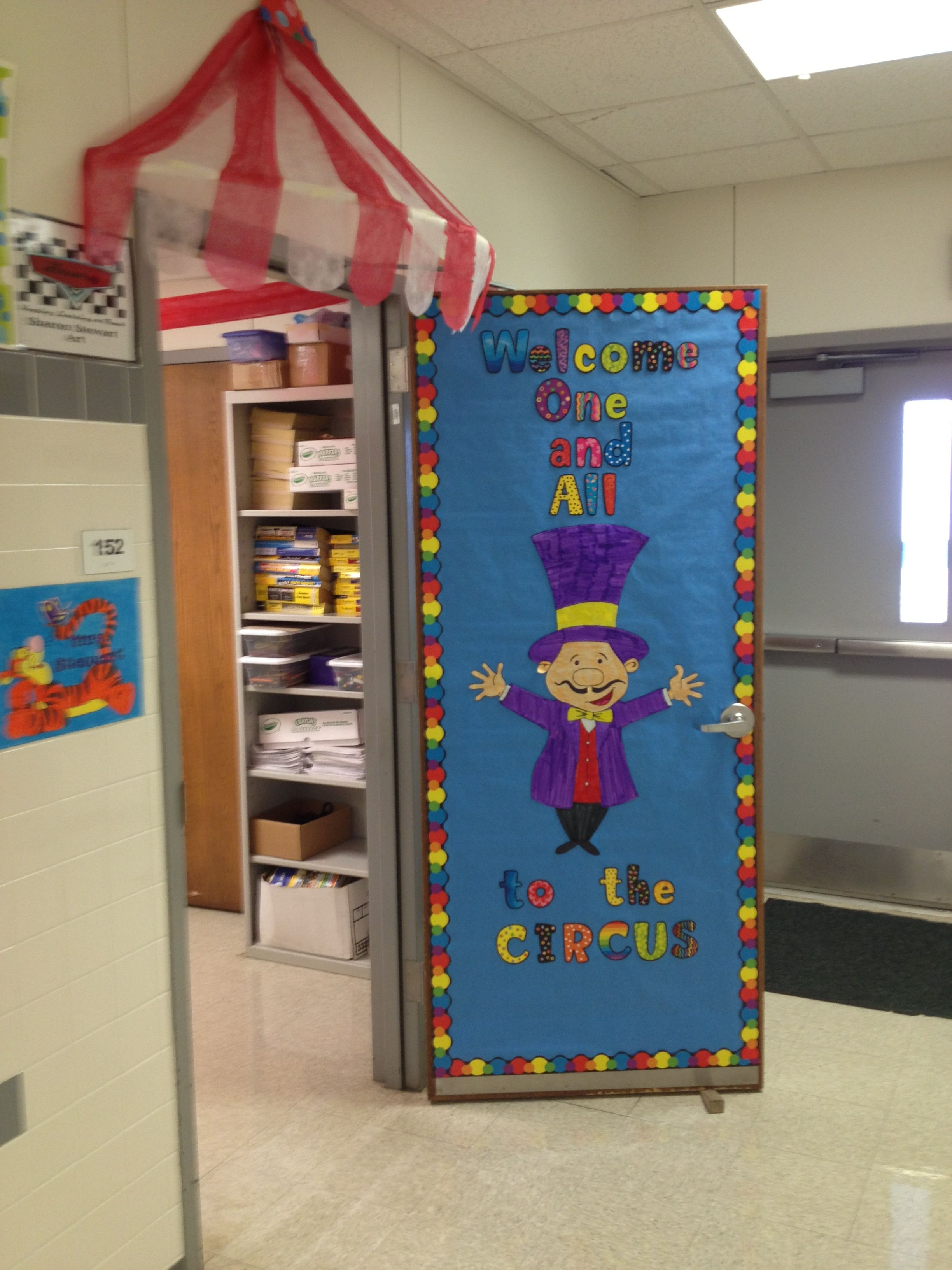 Entrance To The Room Circus Theme Classroom Carnival