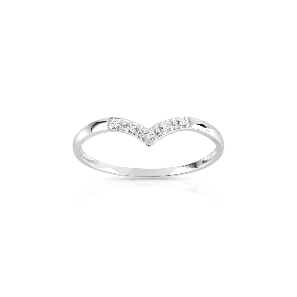 bague or blanc diamant taille 49