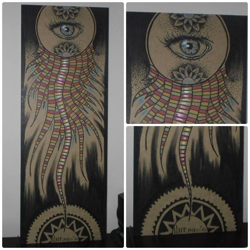 drawing on wood by Blaze Art