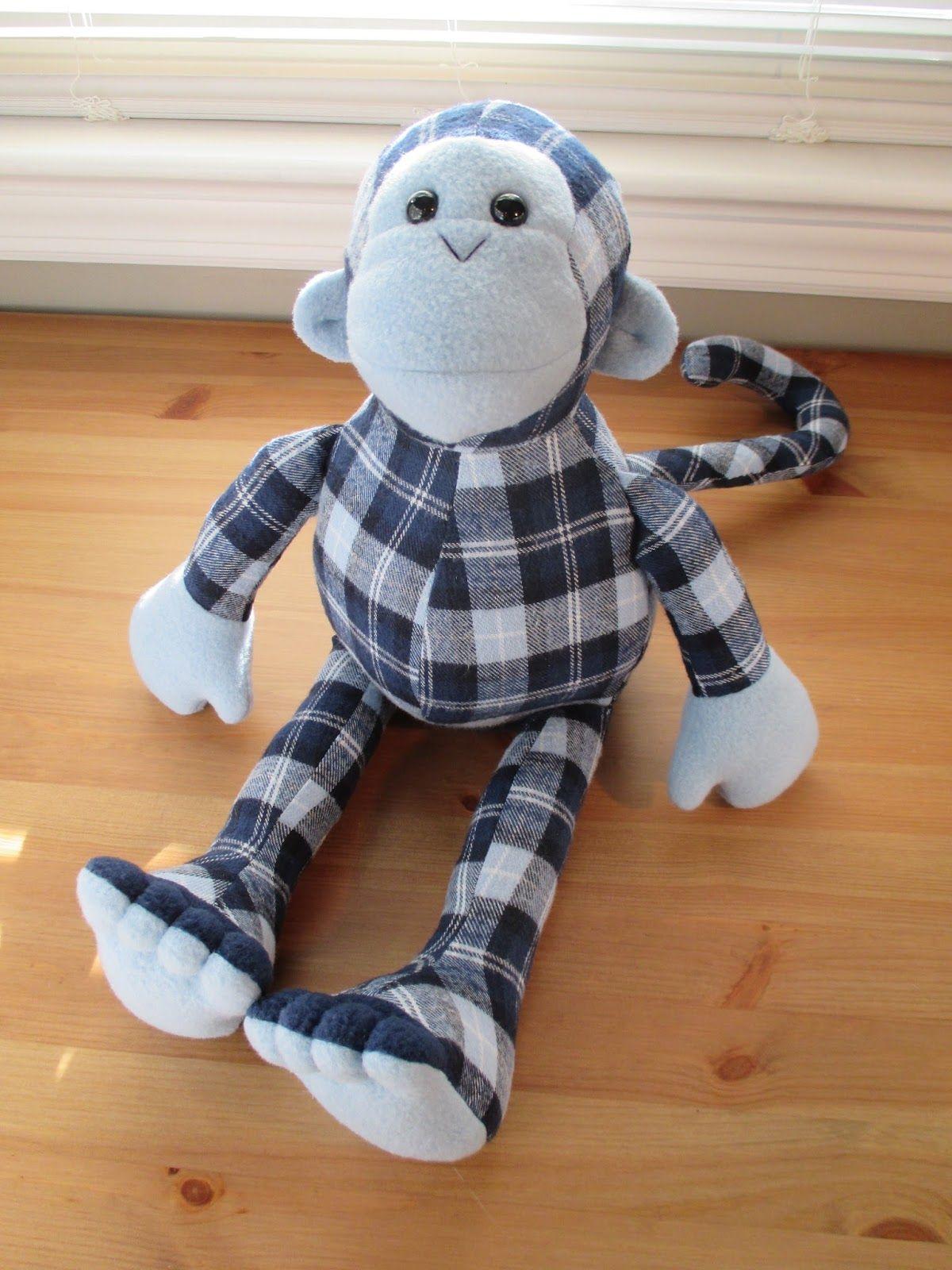 Fleece menagerie memory animals bear monkey dog
