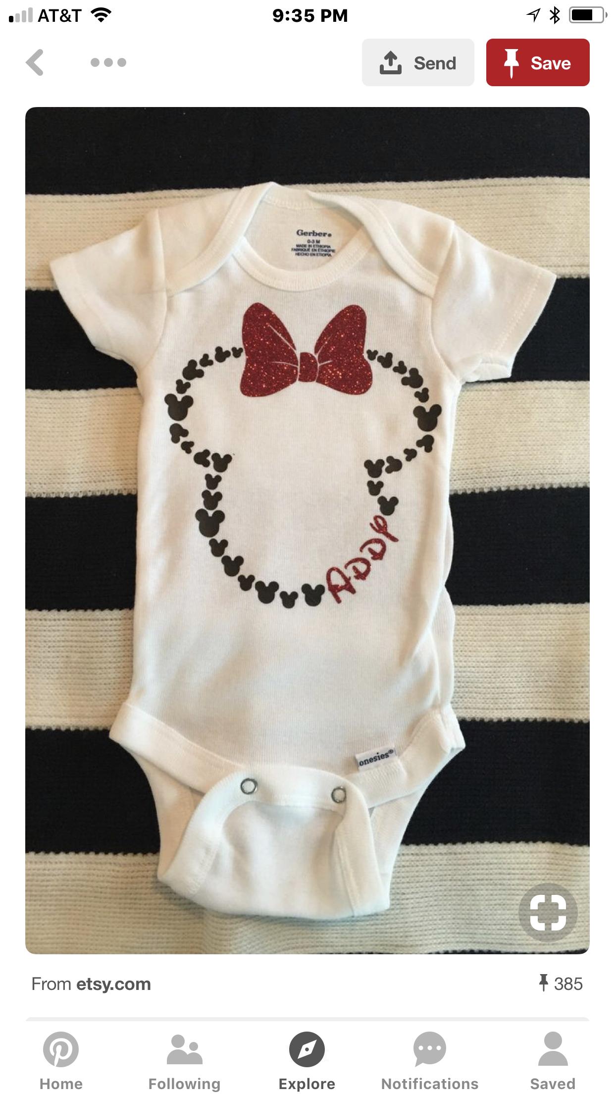 Personalized Disney inspired onesie