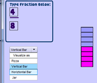 Fraction Maker Online Make Visual Fractions And Save Them As Images To Your Desktop Fraction Games Learn Math Online Fractions