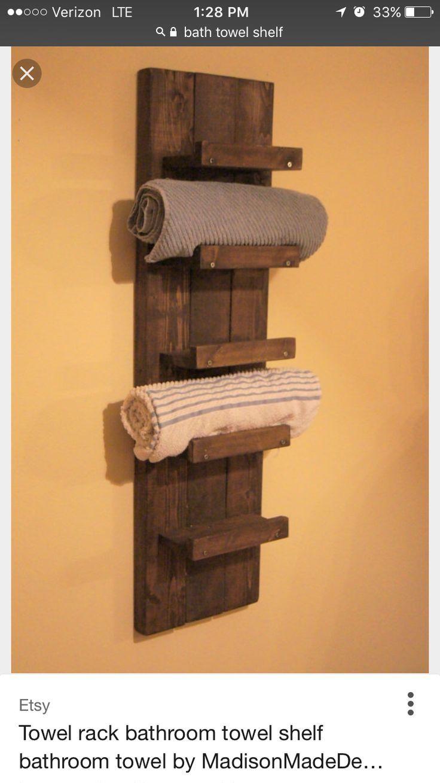 End Of Bath Shelf Wohnungseinrichtung Diy Towel Rack Bathroom Shelves For Towels