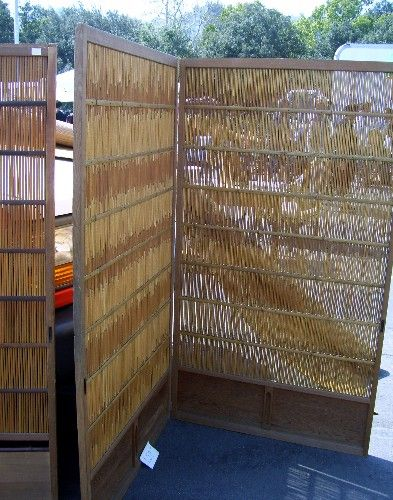 Shopping At Flea Markets For Vintage Patio Furniture: Folding Privacy Screen