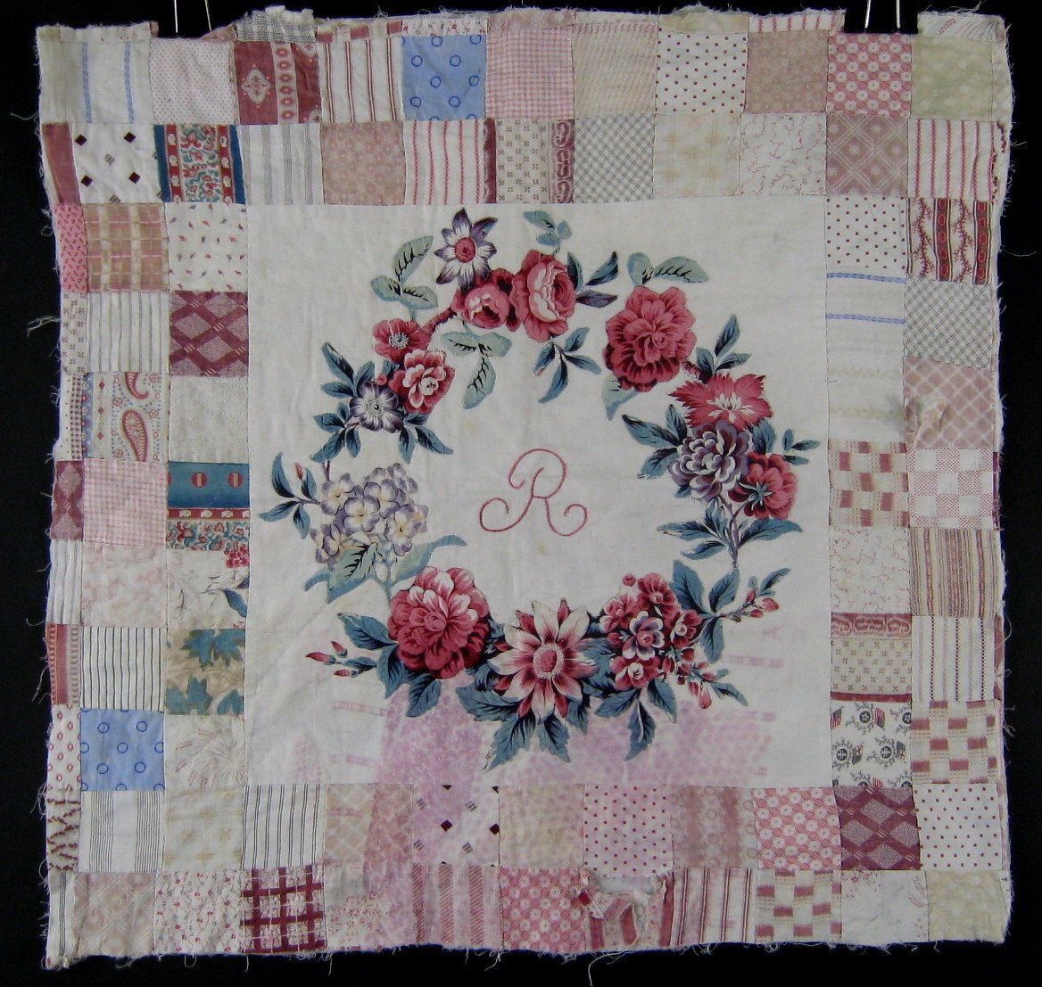 Antique Broderie Perse Applique Quilt Square c.1830 by unfocused ...