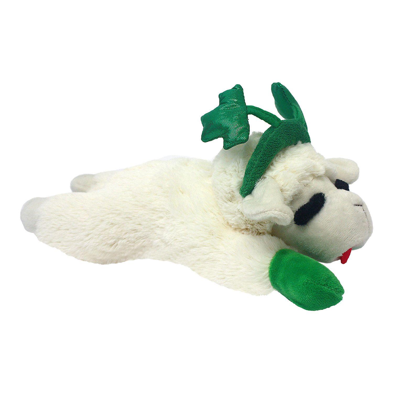 Multipet Lamb Chop With Shamrock Headband Dog Toy Medium Dog