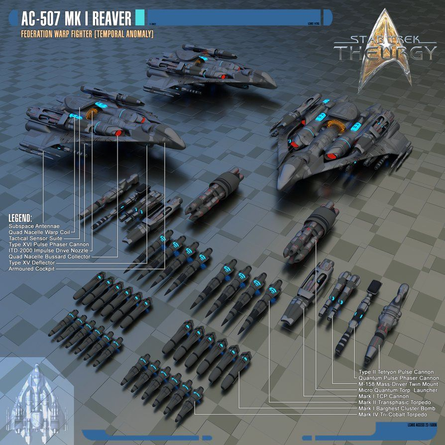 AC-507 Mk I Reaver Federation Warp Fighter by Auctor-Lucan.deviantart.com on @DeviantArt