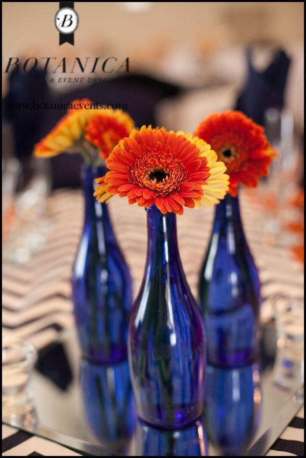 Burnt Orange And Blue Orange Wedding Decorations Orange Wedding