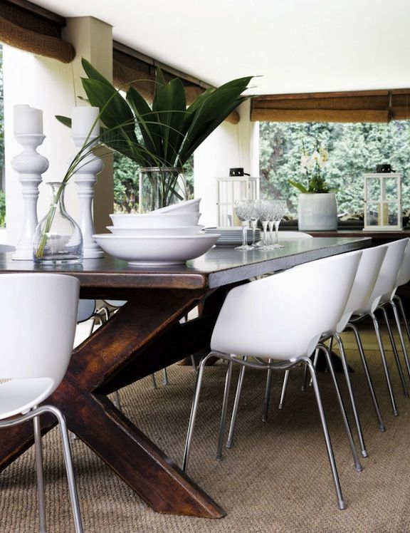 Tropical Dining Room Inspiration  Table Chairs Palm Fronds Pleasing Tropical Dining Room Chairs Design Ideas