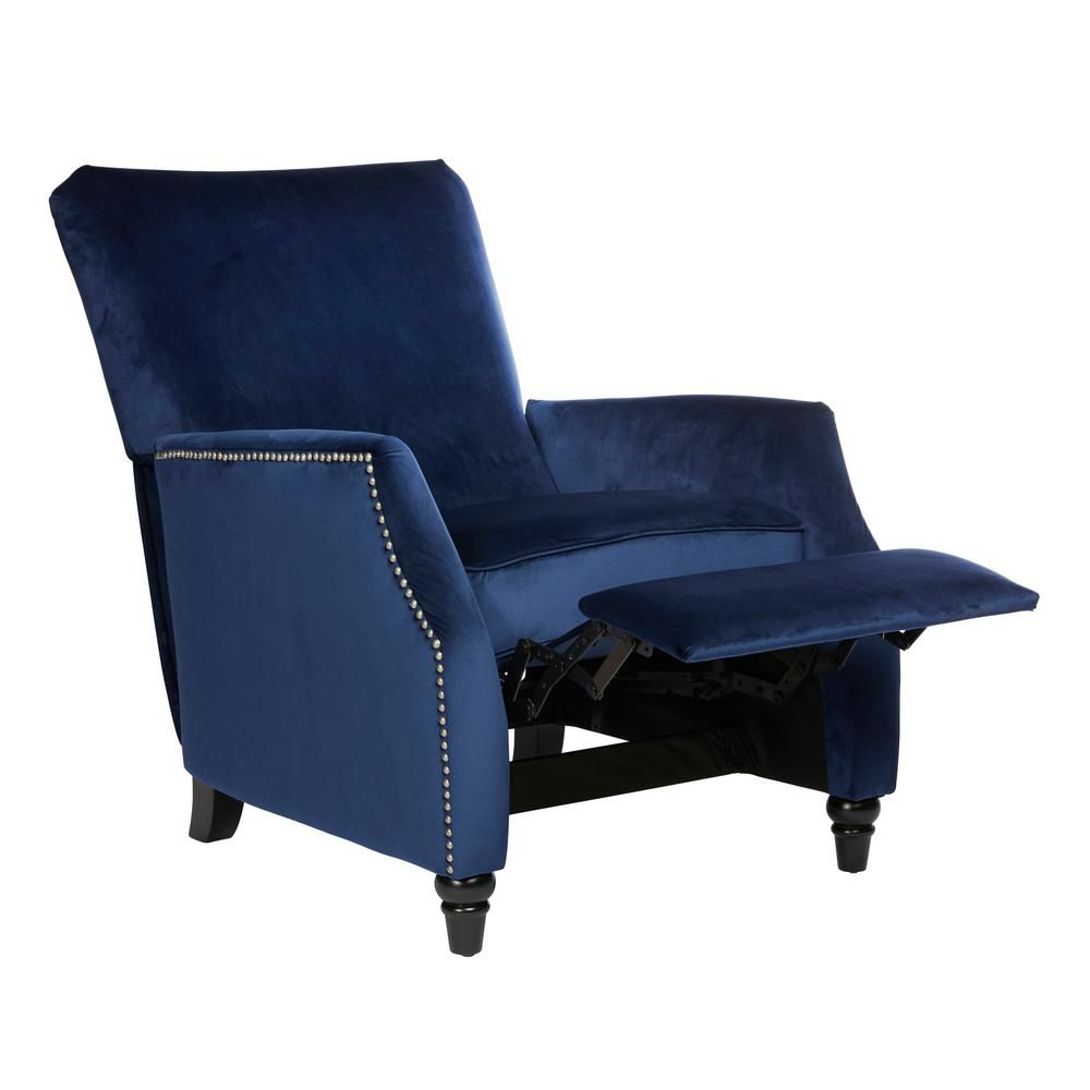 Ikea Couch Bett Recruiting Prolounger Navy Blue Velvet Push Back Recliner Products In 2019