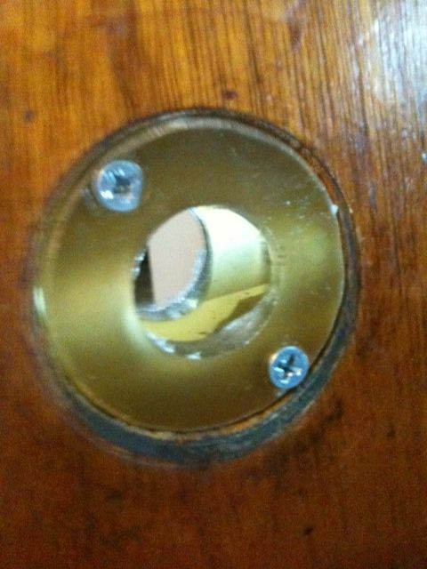 Use A Bore Insert To Replace A New Door Knob With An Antique One