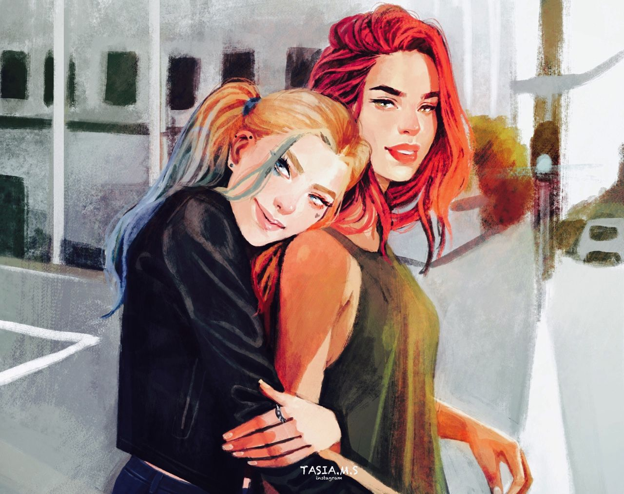 "tasiams: ""Harley Quinn and Poison Ivy """