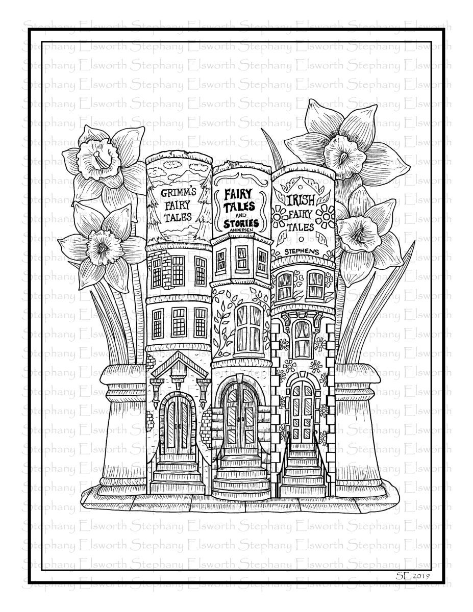 Brownstone Books Fairy House Printable Coloring Page Color With Steph Coloring Pages Animorphia Coloring Book Cute Coloring Pages