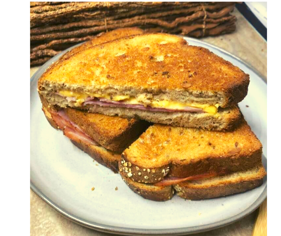 Air Fryer Grilled Ham and Cheese Sandwich Fork To Spoon