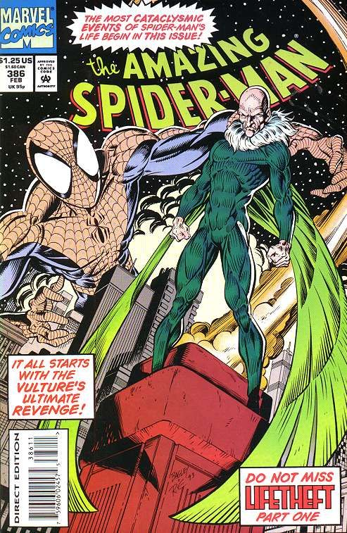Amazing Spider-Man # 386 by Mark Bagley & Randy Emberlin