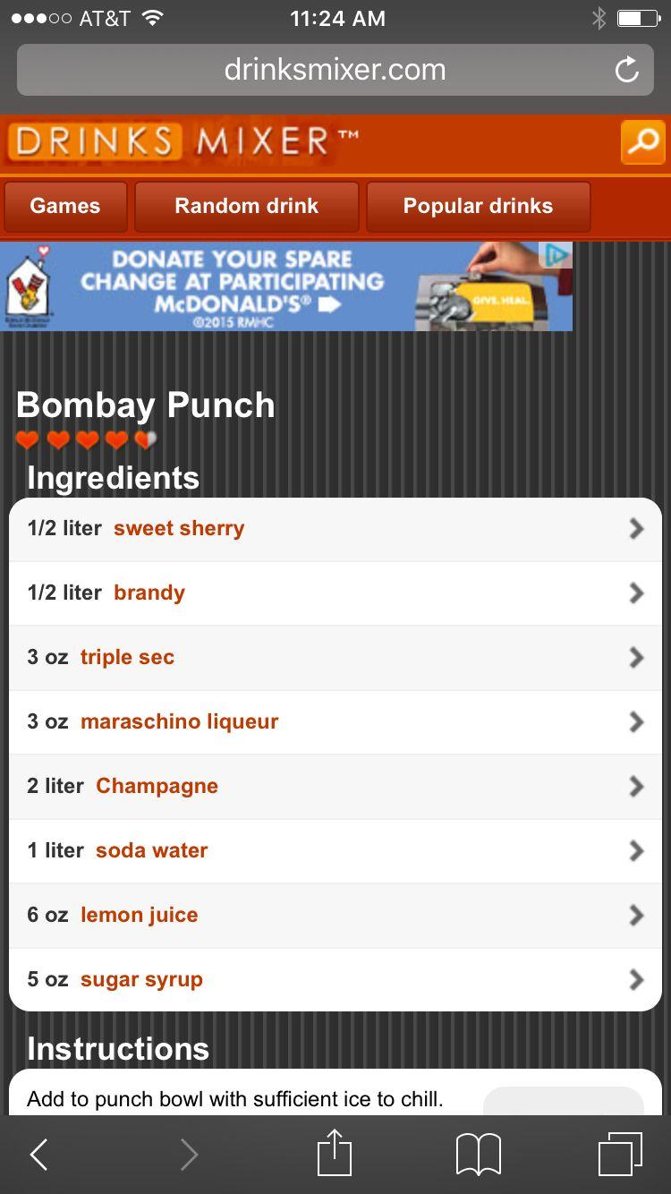 Bombay punch