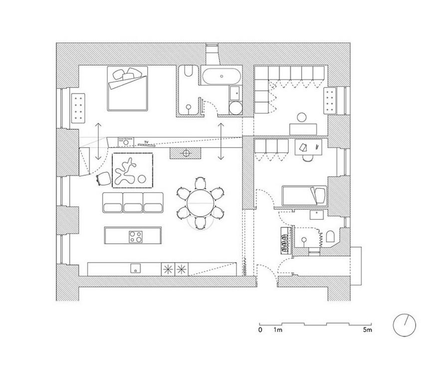 Dise o departamento peque o plano dise o de casa for Acabados apartamentos pequenos