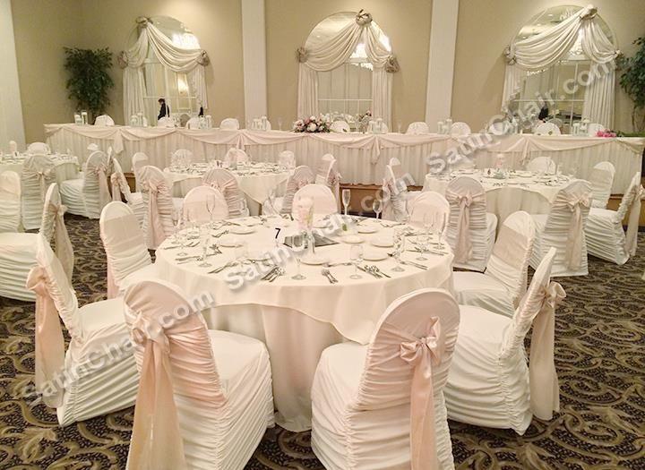 Ruched Chair Covers Beach Canvas Abbington Banquets Glen Ellyn Wedding Banquet Hall Chairs