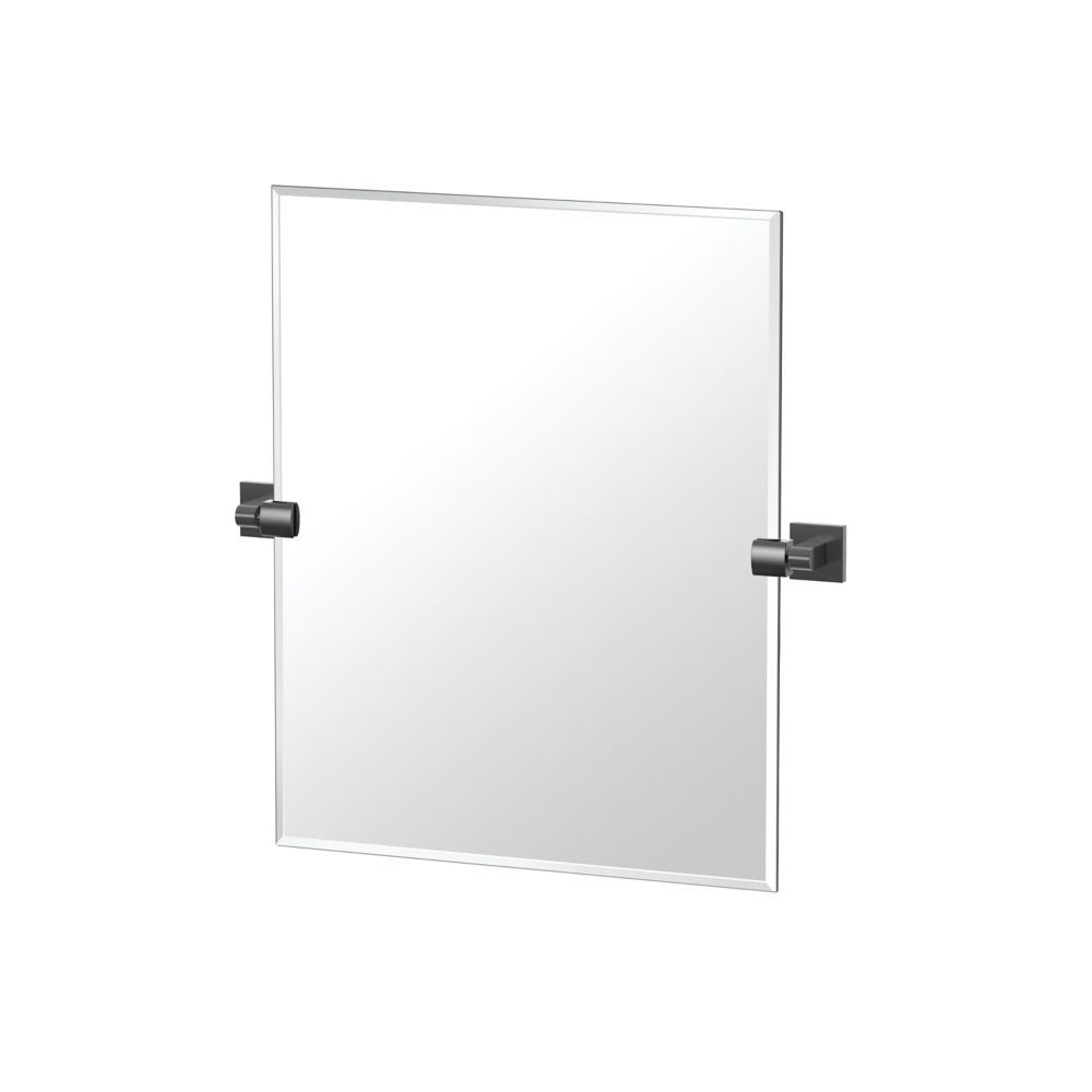 Elevate 24 Inch H Frameless Rectangle Mirror Matte Black Products In 2019 Modern Bathroom Mirrors Contemporary Bathroom Mirrors Large Rectangle Mirror