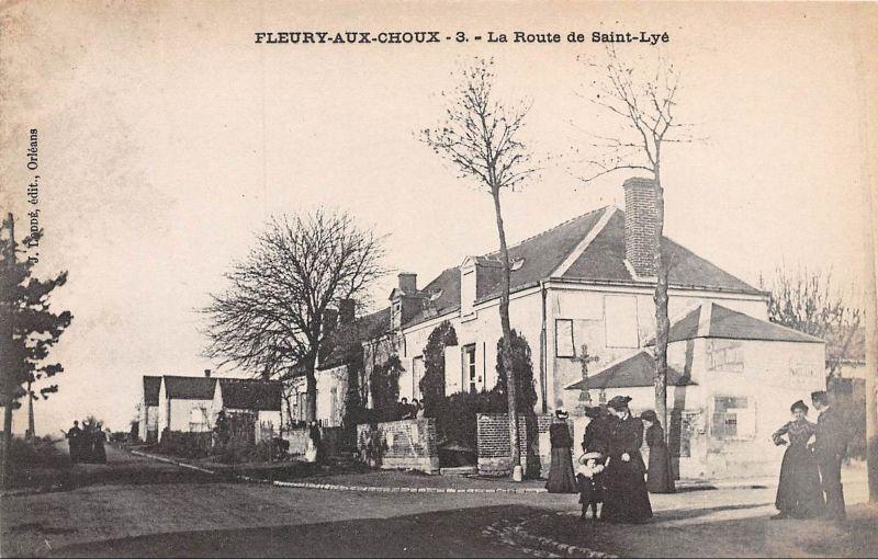 Cpa Fleury Aux Choux Fleury Les Aubrais En 1907 Route De