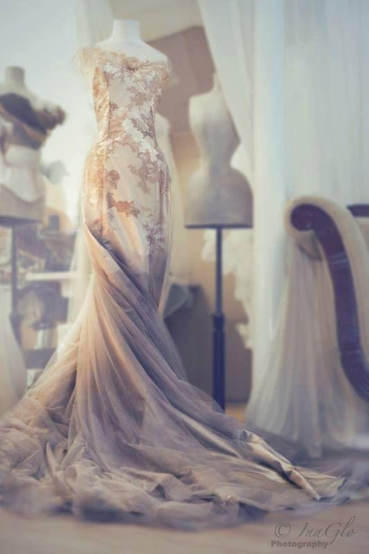 SPARKLEWREN BRIDE CLOUD bespoke bridal gown with by sparklewren