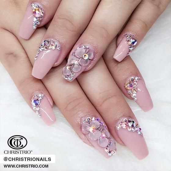 These 3d Acrylic Nails Are Everything In 2018 Nail Art Pinterest