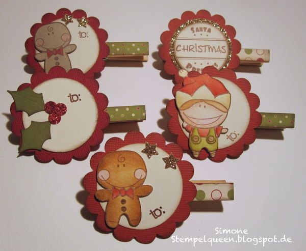 tutorial christmas clothespin