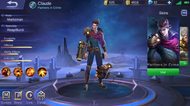 Mobile Legend Claude Build 2018  Mobile legends, Partners