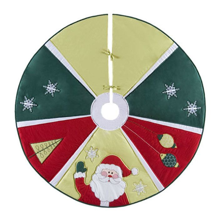 Jolly Santa Quilted Christmas Tree Skirt 54\