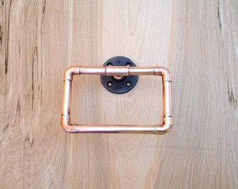 Industrial Bathroom Accessories Set PC Copper By MacAndLexie - Copper bathroom accessories sets for bathroom decor ideas