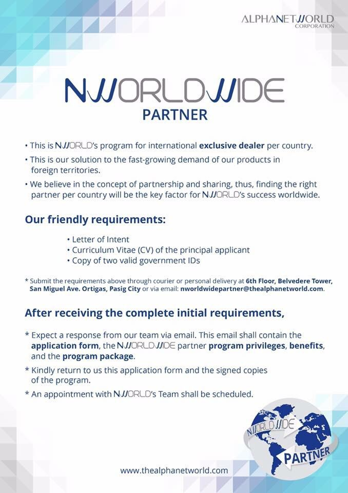 Nworld is looking for International Business Partners - letter of intent partnership
