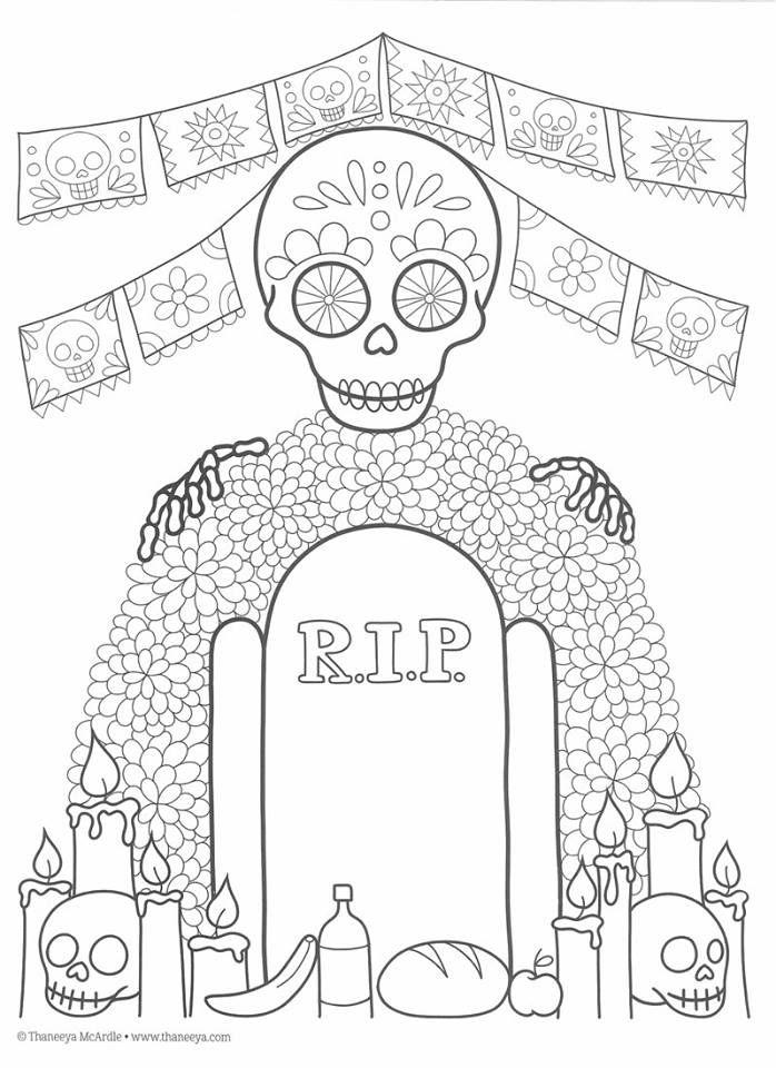 Dibujos para colorear el día de los muertos (39 | Dia De Los Muertos ...