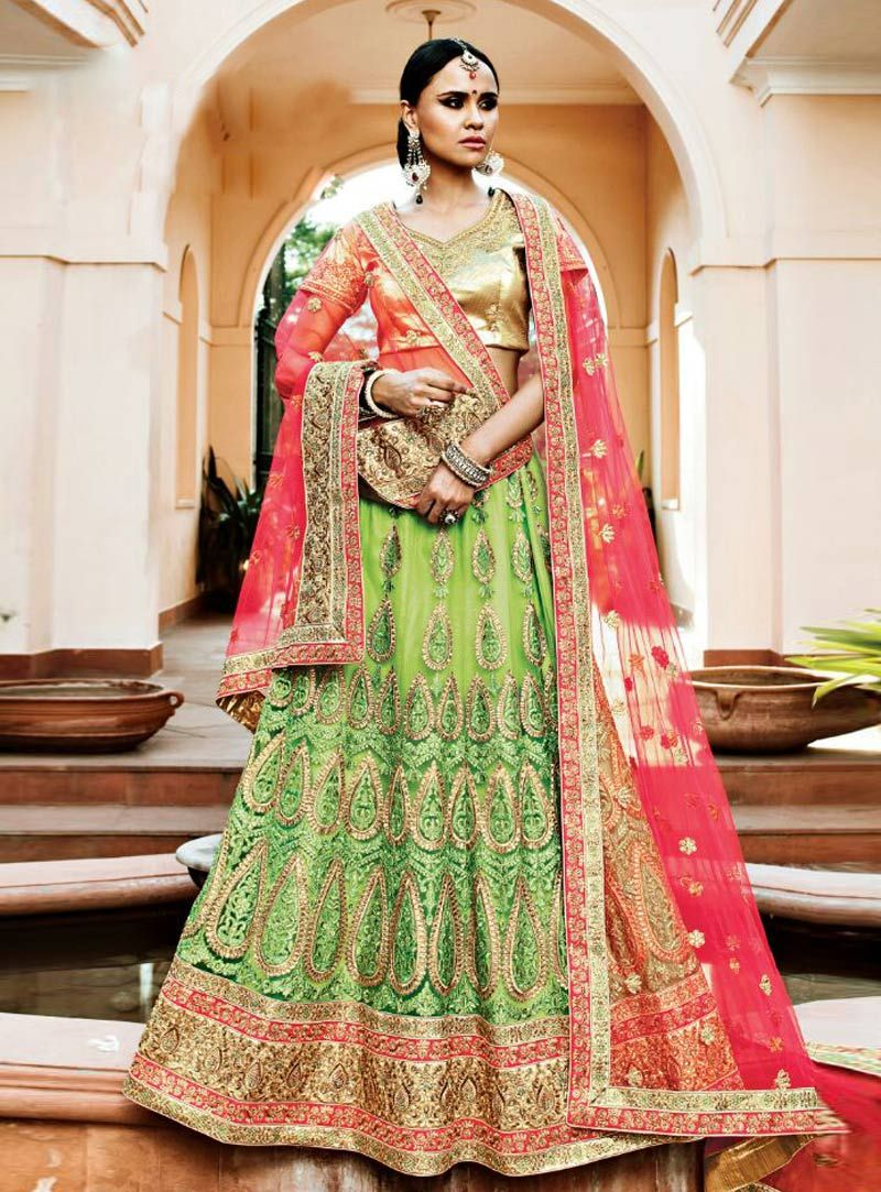 efa2e2a8ee Light Green Net Wedding Lehenga Choli 81167 | Wedding Lehenga Choli ...