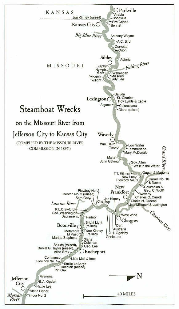 Steamboat Wrecks On The Missouri River Missouri River Pinterest