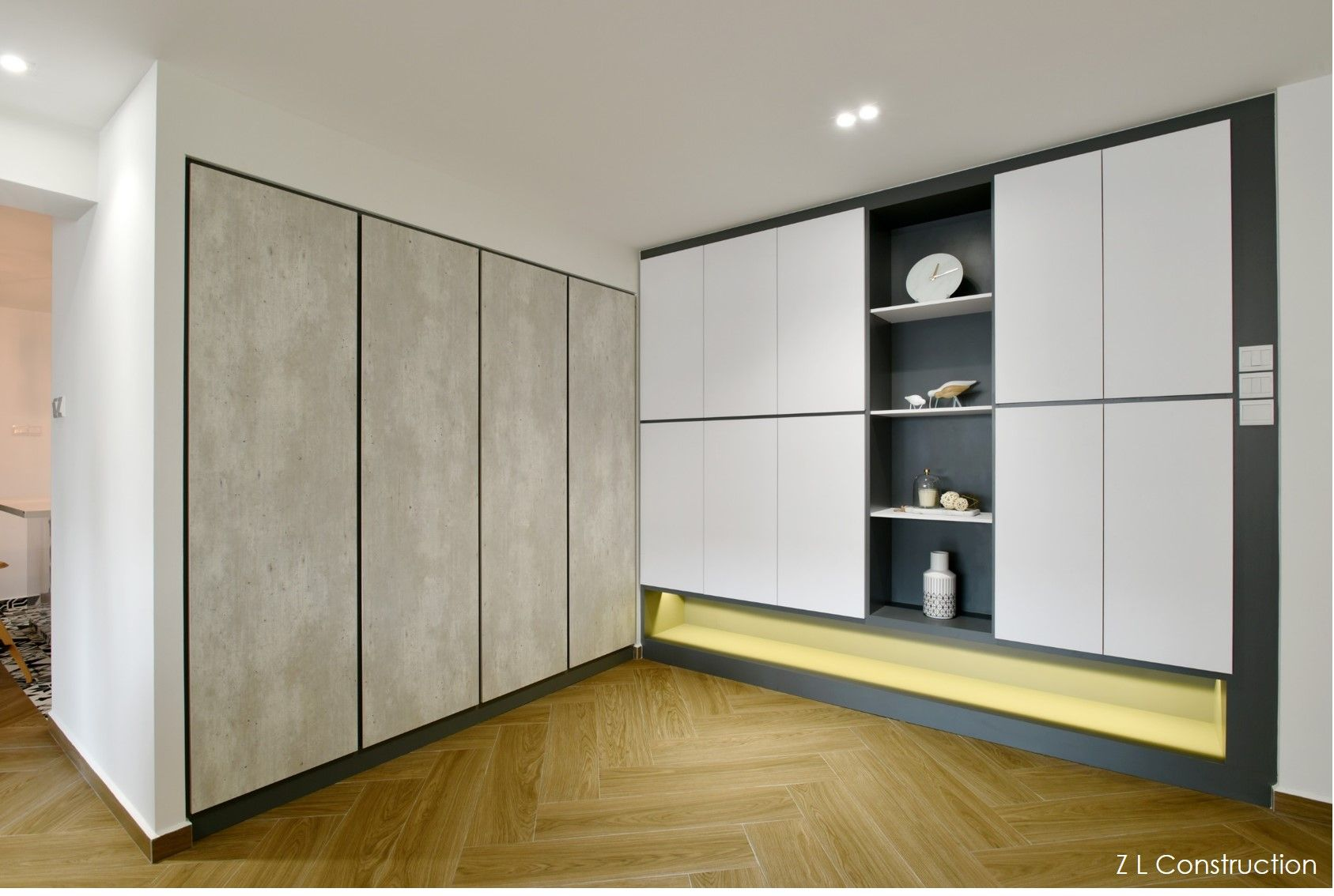 Zlc Singapore Streamlined Storage Structures Shoe Cabinet Doubling Up As A Feature Display With A Column Of Perfectl Shoe Cabinet Storage Cabinet Storage