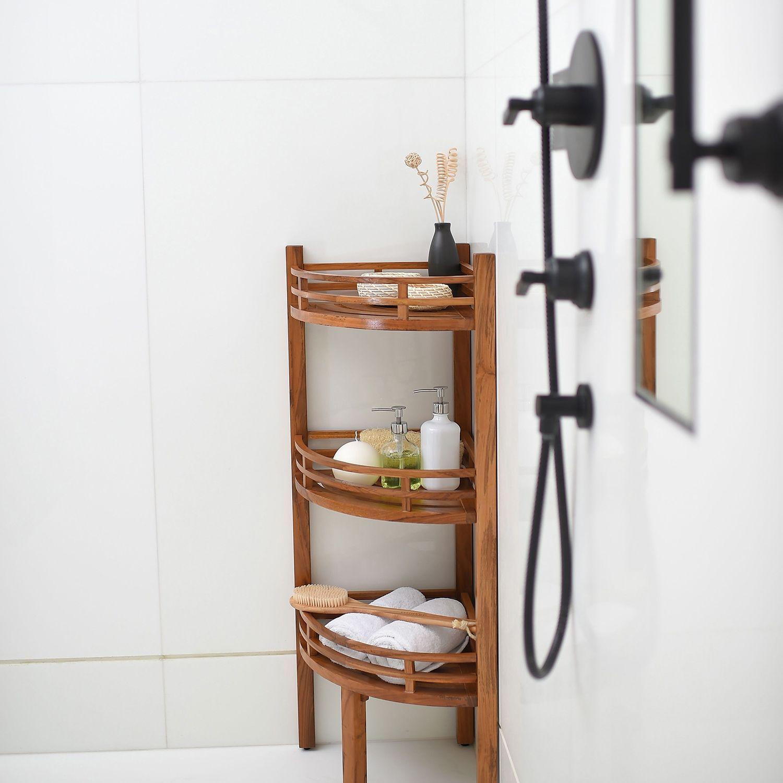 Spa Teak Corner Shelf With Images Shower Corner Shelf Shower