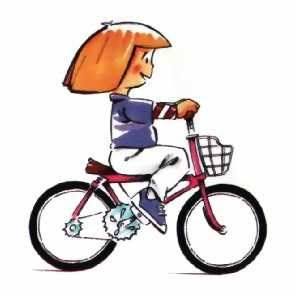 Dibujo niña en bicicleta | Bicicletas niños, Bicicletas, Bicicleta dibujo