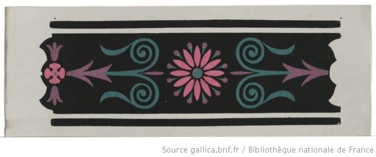 Titre : [Bordure] : [papier peint]  Auteur : Jacquemart et Bénard (Manufacture)  Éditeur : Jacquemart et Bénard (Paris)  Date d'édition : 1803