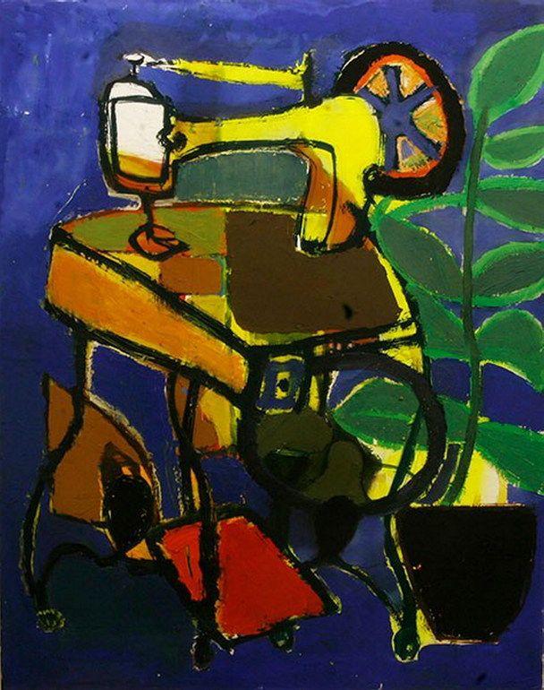 """SEWING MACHINE"" by Trendafila Trendafilova, Oil Painting, 2013 | Saatchi Art"