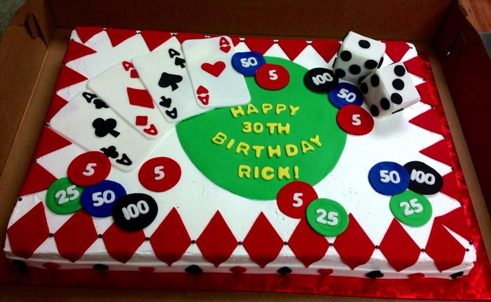 Casino Sheet Cakes Ideas
