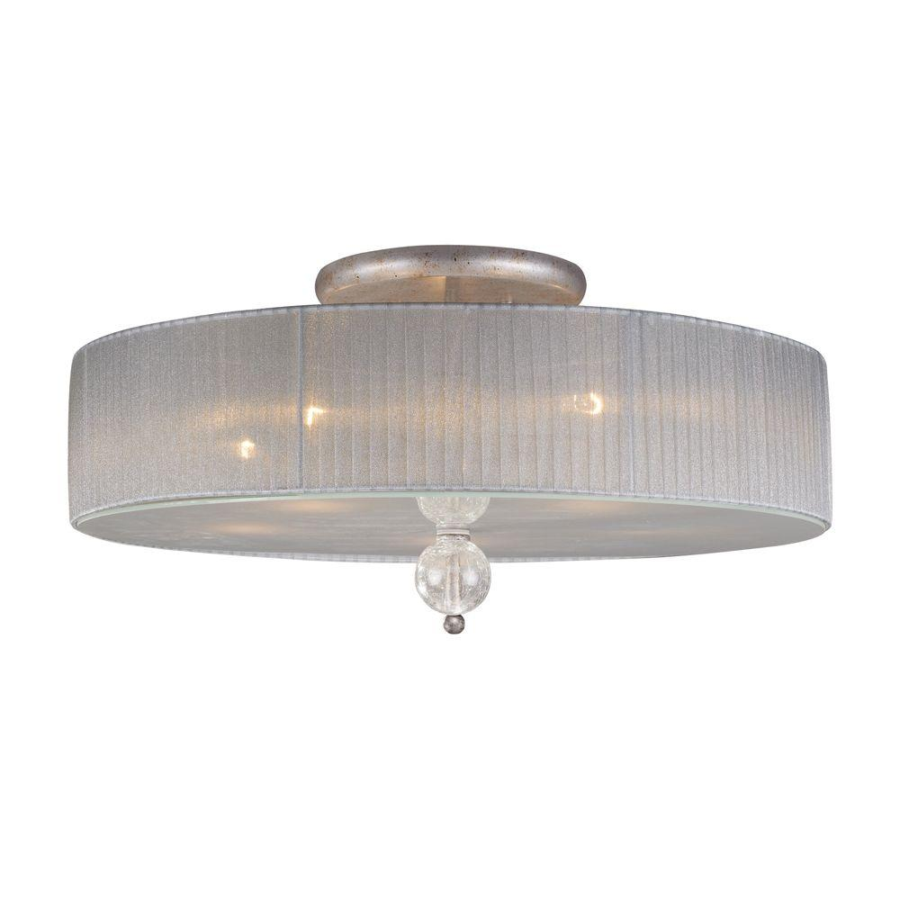 Titan Lighting Alexis 5 Light Antique Silver Ceiling Semi Flush Mount Light Tn 7277 The Home Depot Semi Flush Ceiling Lights Flush Chandelier Semi Flush