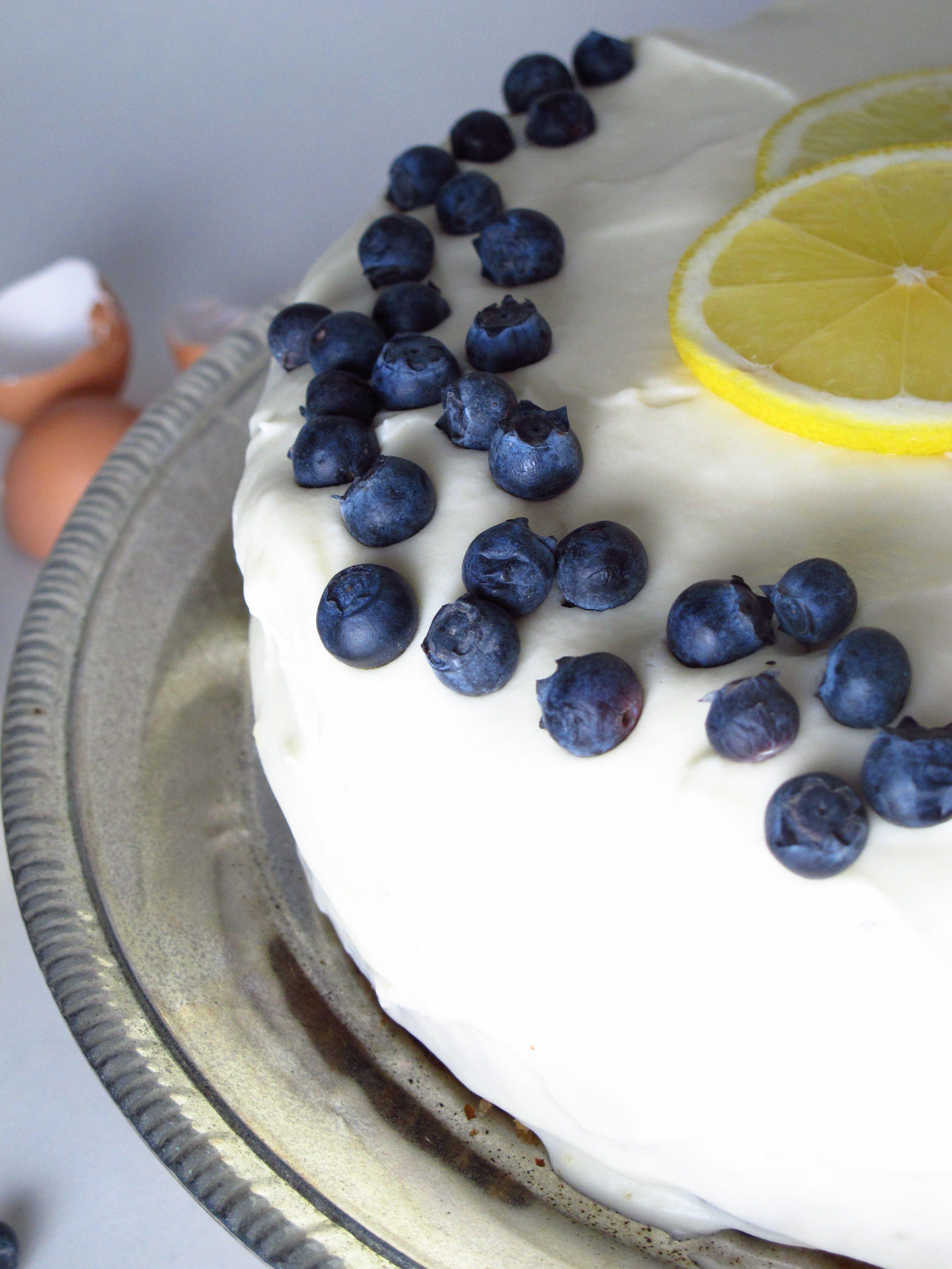 Blueberry Lemon Birthday Cake with Cream Cheese Frosting Recipe