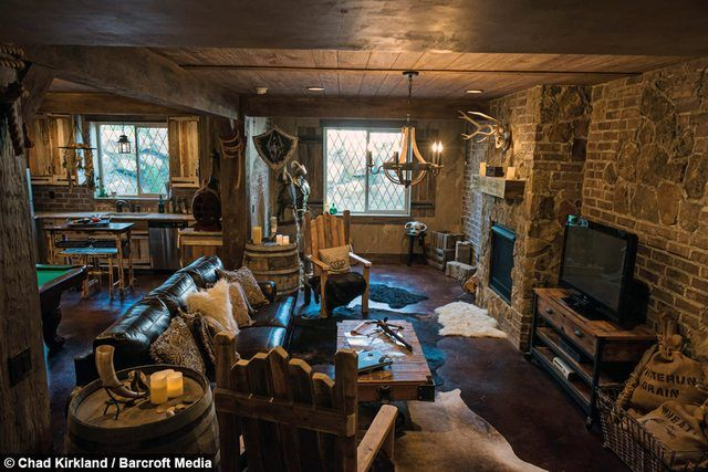 Guy Spends 50 000 Remodelling His Basement Elder Scrolls Style Skyrim House Ultimate Man Cave Man Cave Home Bar