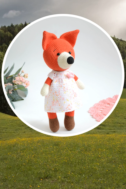Photo of Amigurumi crochet pattern fox