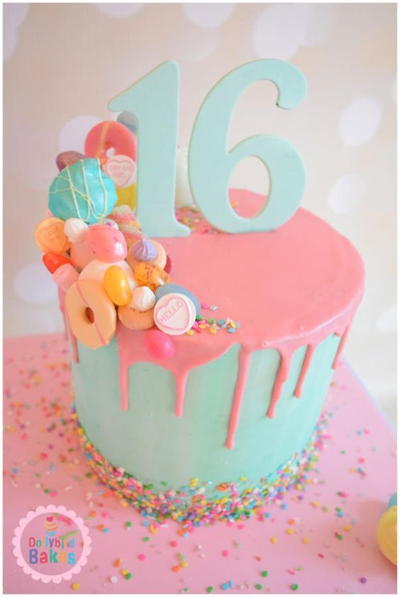 Beautiful Creative Sweet 16th Birthday Cake