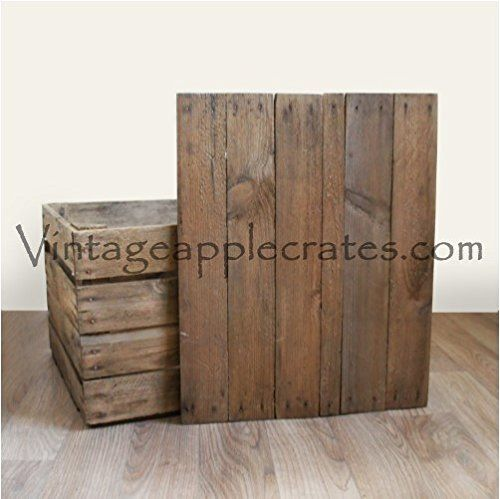 Vintage Apple Crate with Handmade, Up-Cycled Fitted Lid