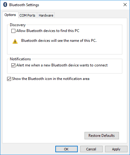 Is Bluetooth Icon Missing From Windows 10 Show It Icon Device Driver Bluetooth