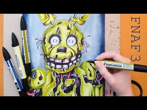 Speed Drawing SPRINGTRAP - FNAF - Five Nights at Freddy's 3 - YouTube