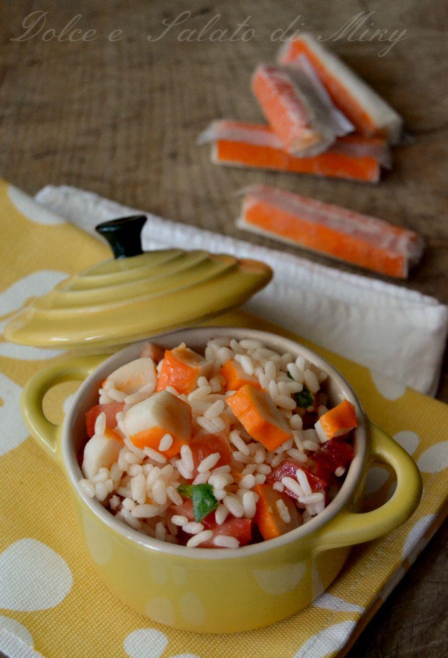 ricetta riso freddo con surimi e pomodori  Dolce e Salato di Miky